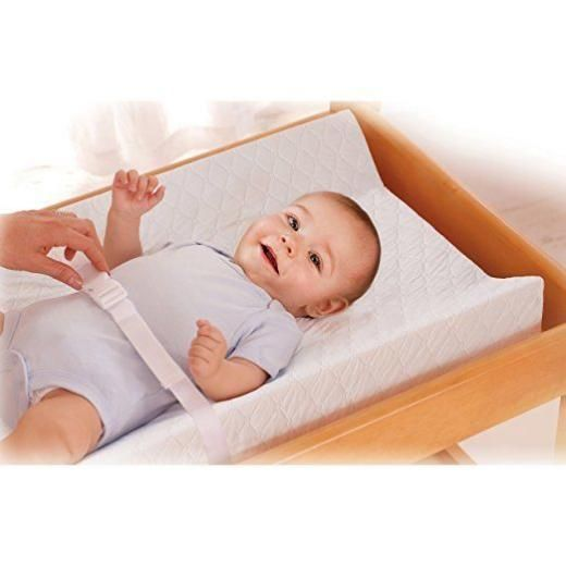 Changing Table Pad Baby Contoured Wall 4 Sided Nursery Durable Easy