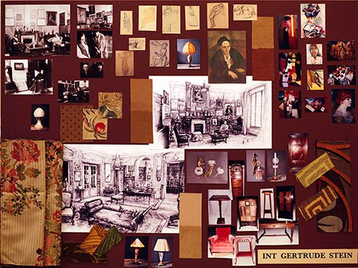Midnight in Paris    Seibel's mood board for Gertrude Stein's house