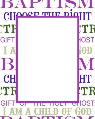 purple baptism frame