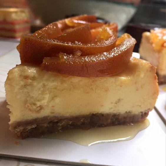 Cheesecake con naranjas confitadas - Isabel Vermal