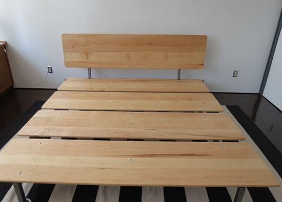 Diy mid century modern platform bed not for the for Diy modern platform bed