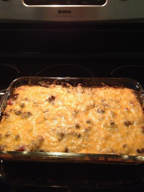 Mexican lasagna... Soooo yummy!