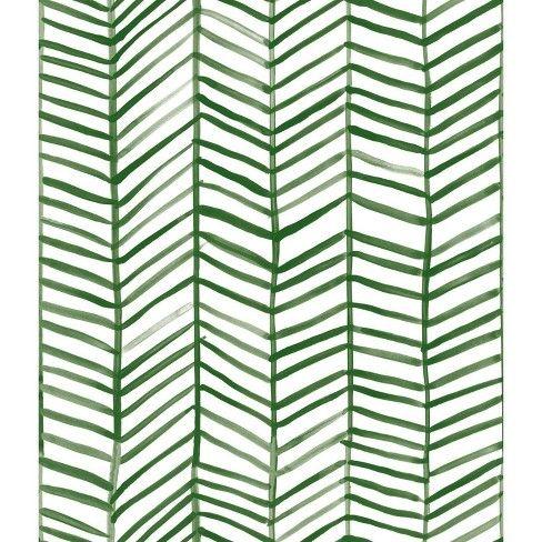 Roommates Cat Coquillette Herringbone Peel And Stick Wallpaper Green Peel And Stick Wallpaper Herringbone Wallpaper Wallpaper Roll