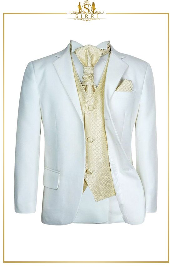 Kinder Jungen Hochzeitsanzug In Ivory Gold 5 Teilig In 2020 Hochzeitsanzug Kinder Anzug Anzug