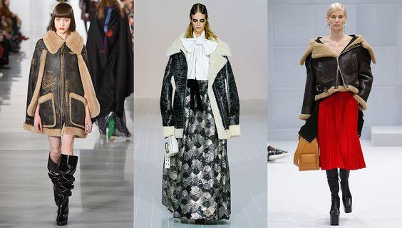 Tendance mode automne-hiver 2016-2017 Peaux lainées: