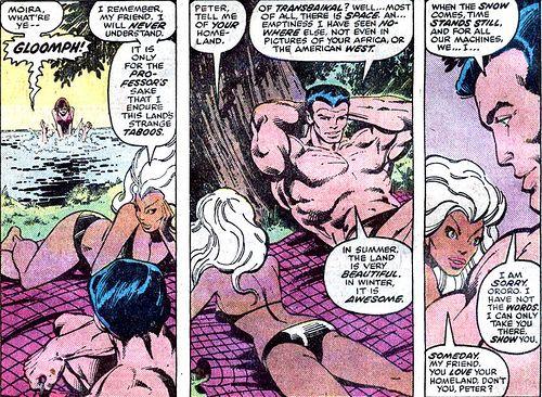 Ororo Munroe and Peter Rasputin. (X-Men Vol.1 #109)