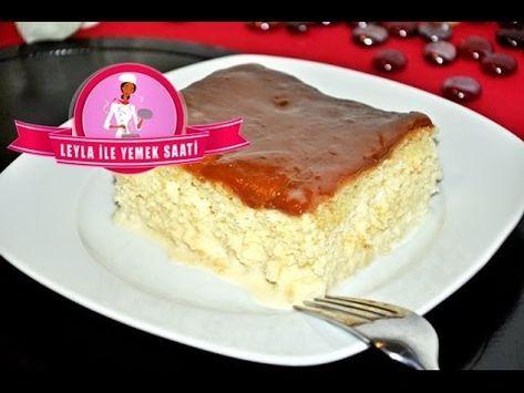 Nasser Milchkuchen Mit Karamellcreme Oder Sahne Und Fruchten