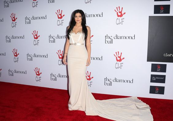 Kylie Jenner's Nude Gown at Diamond Ball 2015 | POPSUGAR Fashion