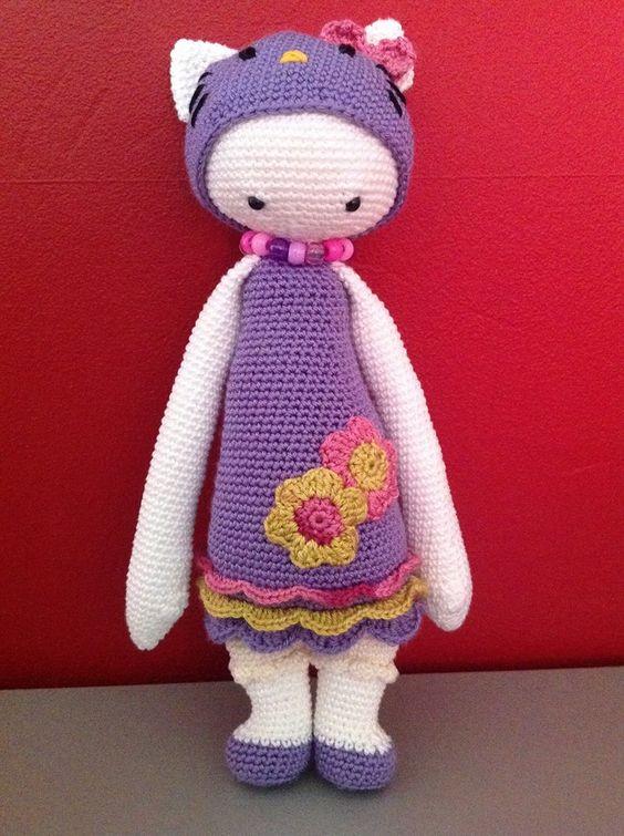 Hello Kitty Hada Amigurumi : Hello Kitty mod / based on a lalylala crochet pattern ...