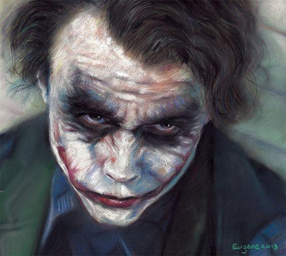 Joker, drawing, poster, print, 16x20