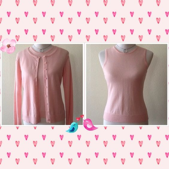 Gap Pink Sweater Set  Merino Wool Size M  Gap Soft Pink Merino Wool Sweater Set in like New Condition in size M.  GAP Sweaters Cardigans