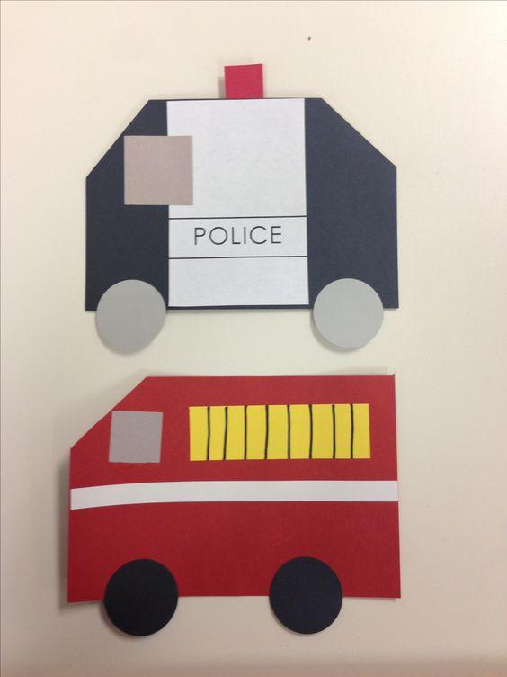 Police Car And Firetruck Preschool Community Helpers