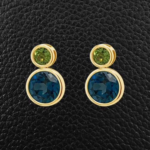 36+ Blue topaz and peridot jewelry ideas