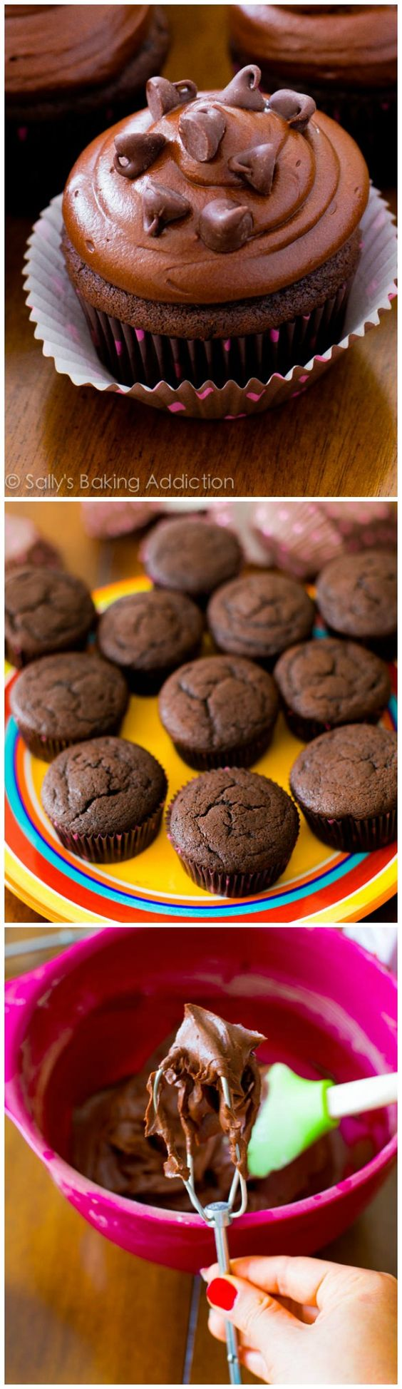 "My favorite Homemade Chocolate Cupcakes. I call them ""death by chocolate"" - for chocolate lovers only!"