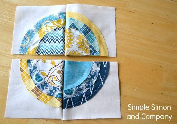 raw edge applique Indie Chic Circle Quilt: A Bulls Eye Quilt Tutorial - Simple Simon and Company: