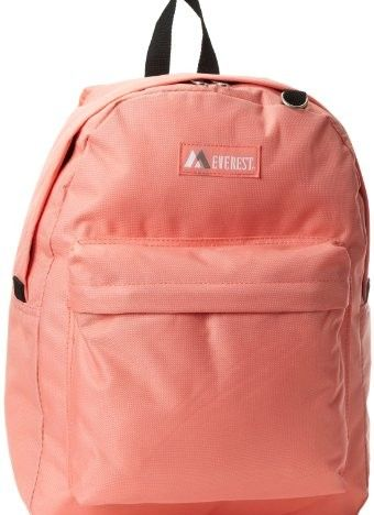 Everest Classic Backpack, Coral, One Size