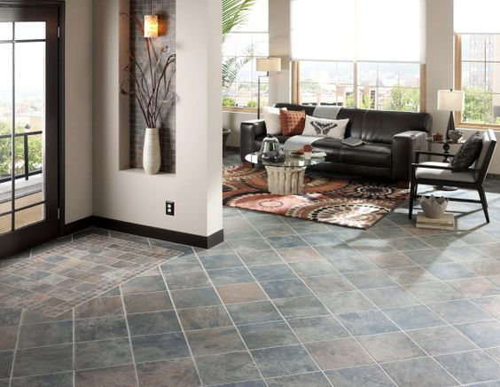 Aspen Sunset Glazed Porcelain Tile Floor SUNROOM