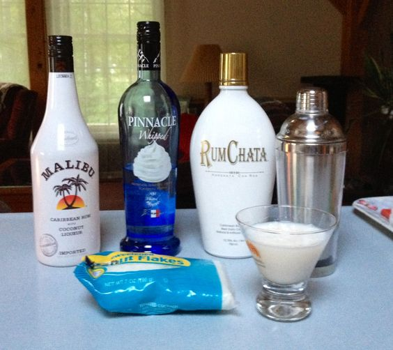 Coconut dream pie one shot of malibu and rum chata and for Best soda with rum