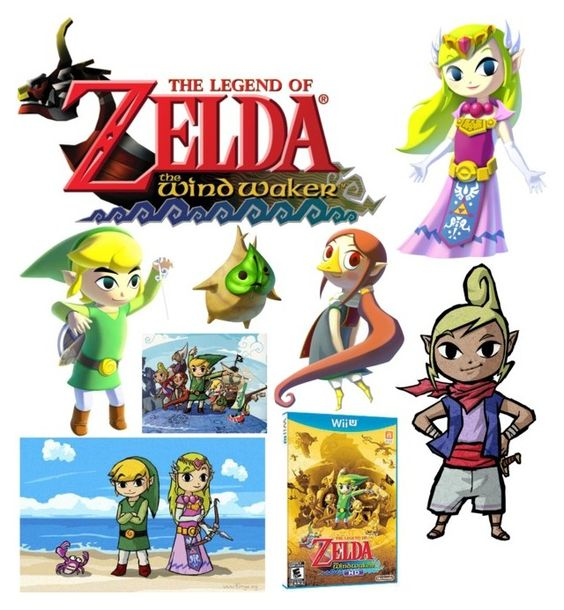 """The Legend of Zelda:The Wind Waker"" by diamonds610 on Polyvore featuring art"