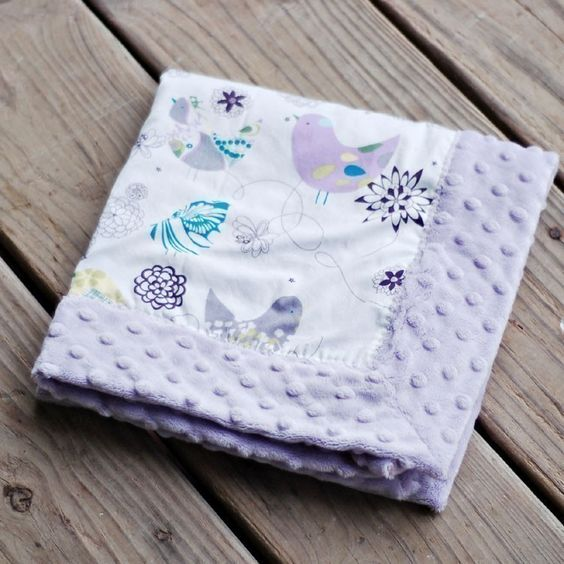 Blue Starlings Minky Baby Blanket .....YOU CHOOSE Size and Minky Color..... Personalization Available. $19.99, via Etsy.
