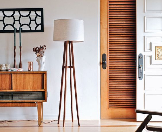 long and tall wooden legs side lamp
