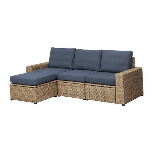 Solleron 3er Sitzelement Aussen Braun Mit Hocker Braun Froson Duvholmen Beige Ikea Deutschland Modulares Sofa Sofa Hocker Und Sofa