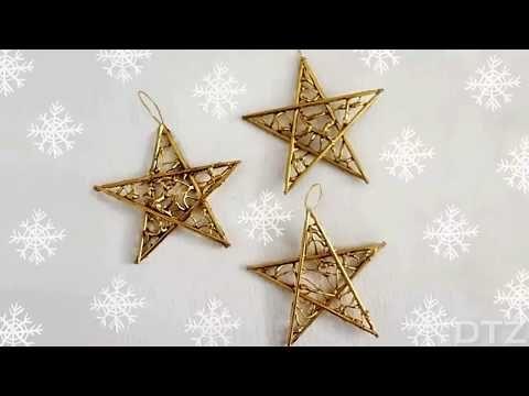 Estrellas Navideñas Muy Fáciles De Hacer Diy Youtube Estrella Navideña Estrellas De Navidad Navideño