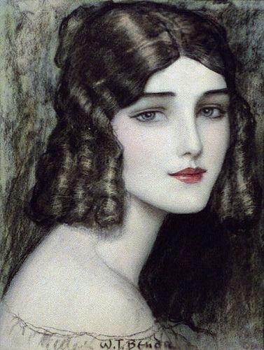 Girl's Head with Curls - Benda, Wladyslaw T. (Wladyslaw The by Lynn (Gracie's mom), via Flickr