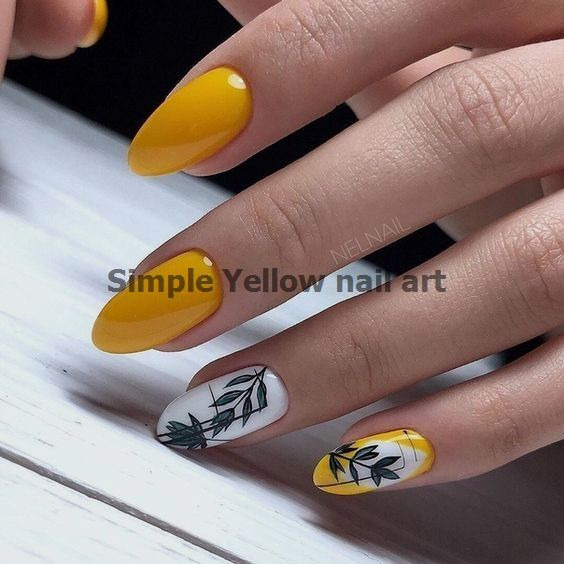 Yellow Nails Art