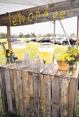 Wedding ideas rustic and country on pinterest for Rustic lemonade stand