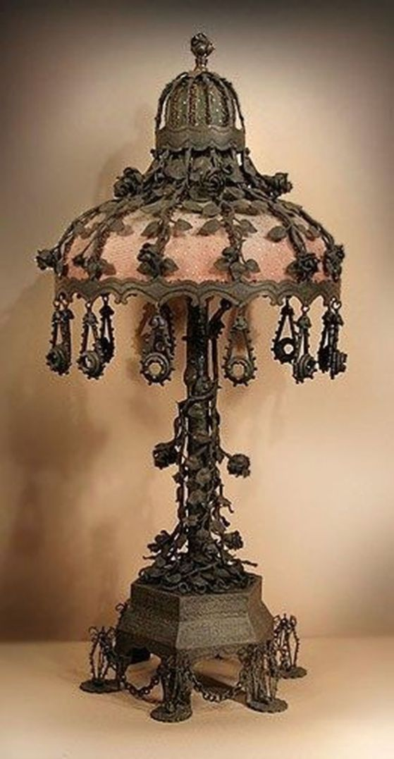 20 Beautiful Chandelier Lamp For Your Bedroom Trenduhome Victorian Lamps Victorian Lampshades Antique Table Lamps