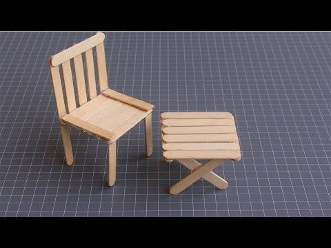 Origami Table And Chair How To Make Paper Furniture Craft Henley Blog Diy Dollhouse Furniture Paper Furniture Craft Stick Crafts