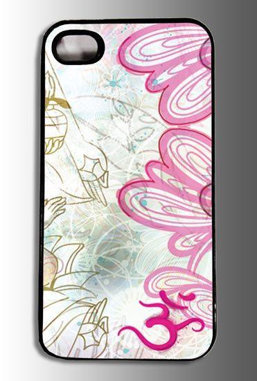 Om Symbol Art Flowers iPhone Case
