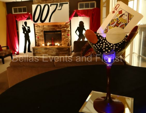 007 party 007 theme pinterest the o 39 jays cocktail for 007 table decorations