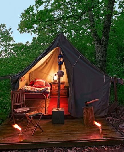 Tent camps and alternative to on pinterest for Canvas platform tents