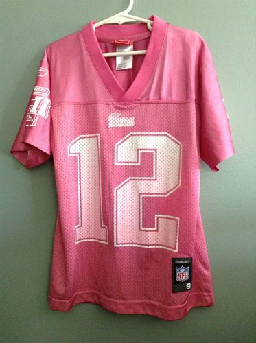 irls PINK New England Patriots TOM BRADY Super Bowl XLII 42 Jersey Small 7/8