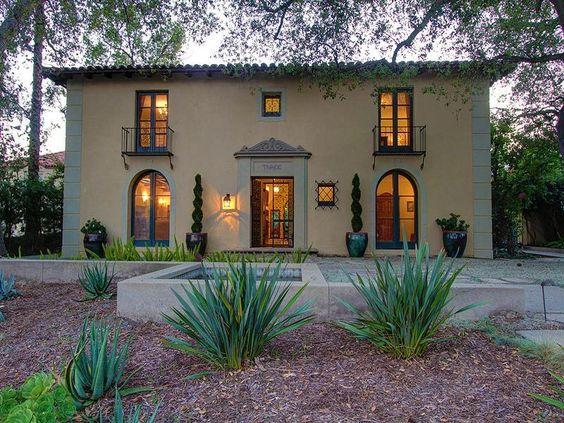 Wallace Neff Italian Revival Masterpiece Home Exterior