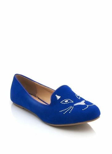 cat loafers!: Omg Shoes, Blue Style, Fashion Style, Blue Size, Shoes Socks, Cat Flats, Cat Lady