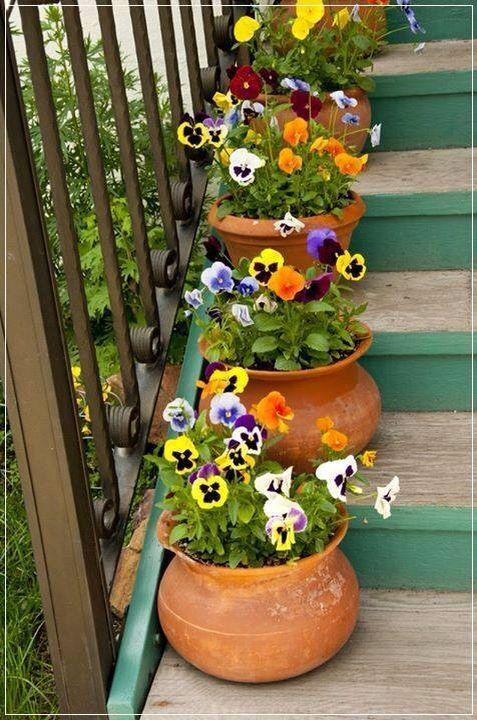Decorando sua escada com flores.