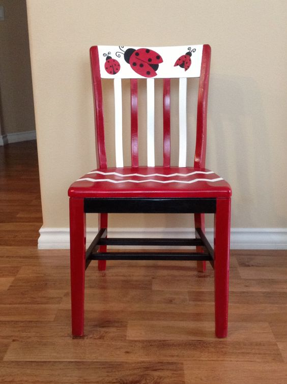 Teacher chair for my ladybug themed classroom: