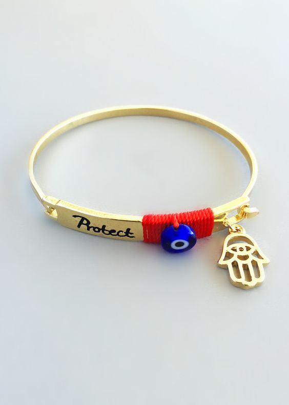 Protection & Good Luck Hamsa Bangle – Pree Brulee
