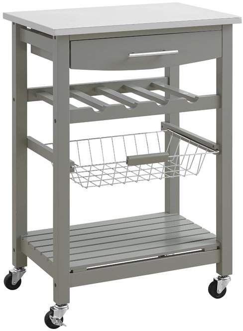 Haviland Highland Dunes Kitchen Cart With Stainless Steel Top Kitchen Trolley Kitchen Tops Kitchen Furniture