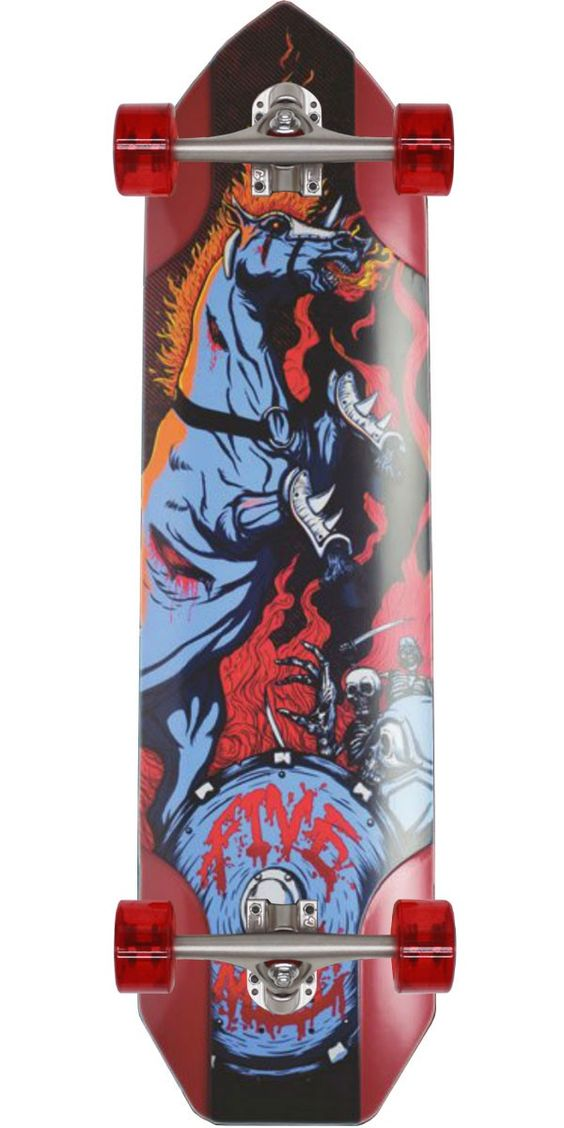 Five Mile War Horse Longboard Skateboard Complete