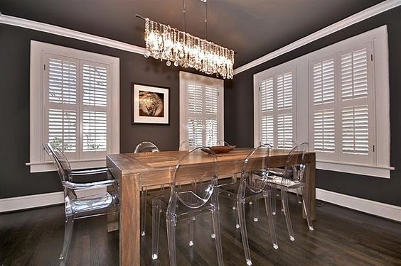traditional meets modern dining room
