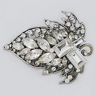 Cheryl King Couture bridal hair accessories. Blythe vintage filigree hair clip is a versatile piece that is easy to wear with any hair style. Bohemian chic with a modern flair.