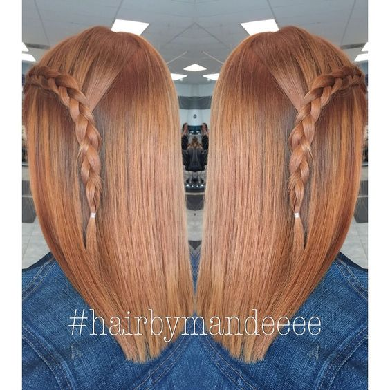 "_mandeeee on Instagram: ""She wanted to be a ""Natural Redhead"" So that's what we did! ☺️ #hairbymandeeee #redkenofficial #unitehair #shadeseq #redhead #braid #cilantrohairspa #modernsalon #behindthechair #redhair"""