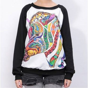 Lovely Cartoon Horse Symphony Sleeve Sweater for only $28.00 ,cheap Sweaters & Cardigans - Clothing & Apparel online shopping,Lovely Cartoon Horse Symphony Sleeve Sweater