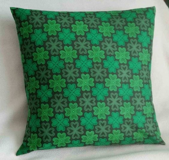Shamrocks Pillow Cover St Patrick s Day Green Swappillow