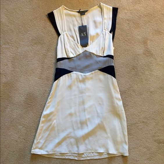 Armani exchange shell dress Off white with geometric patterns. Never used Armani Exchange Dresses