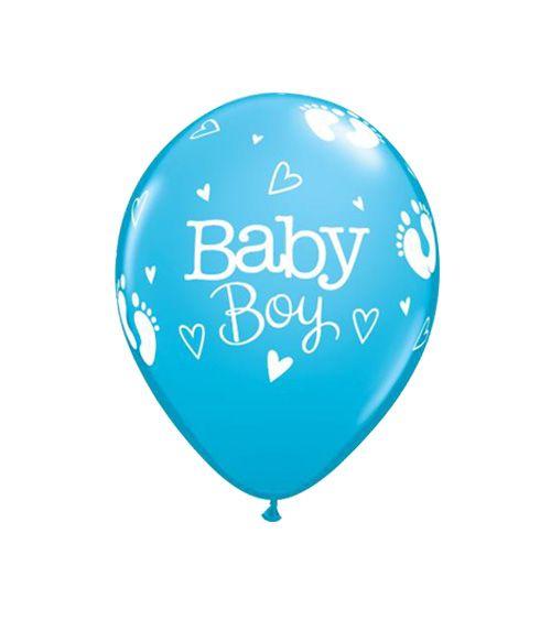 25x Luftballons its a Boy Ballon Deko zur Geburt Junge Blau Helium 30 cm Ballons